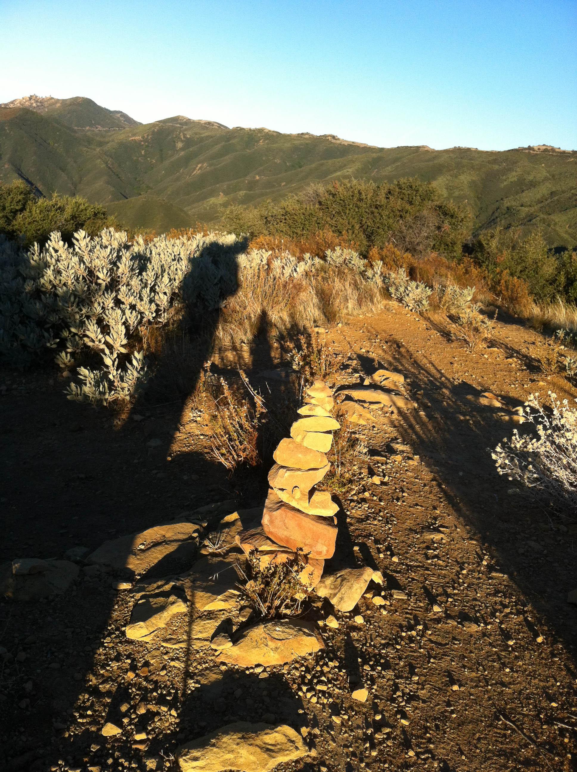 Cairn at the top of Montecito Peak