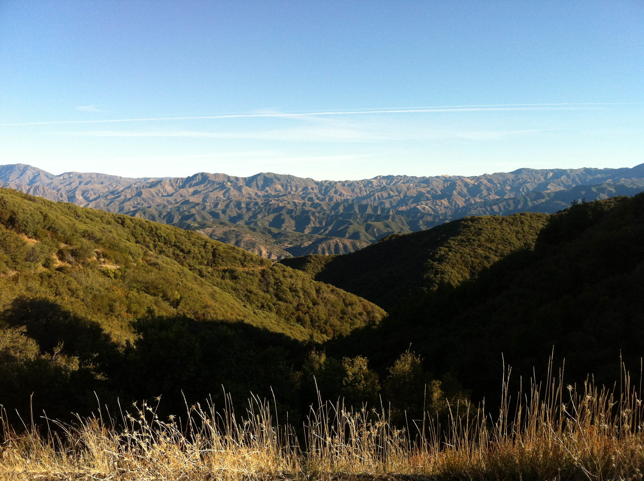 Looking north from the Camino Cielo