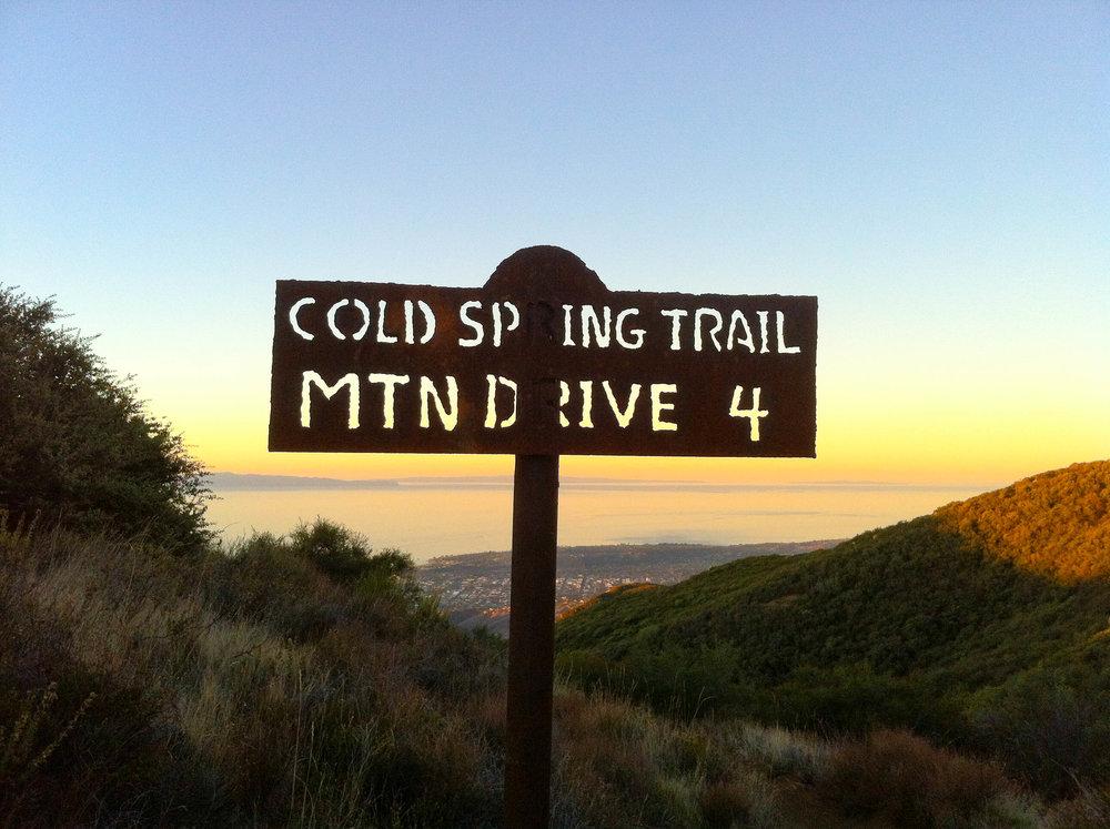 Sign at Montecito Peak Trail head