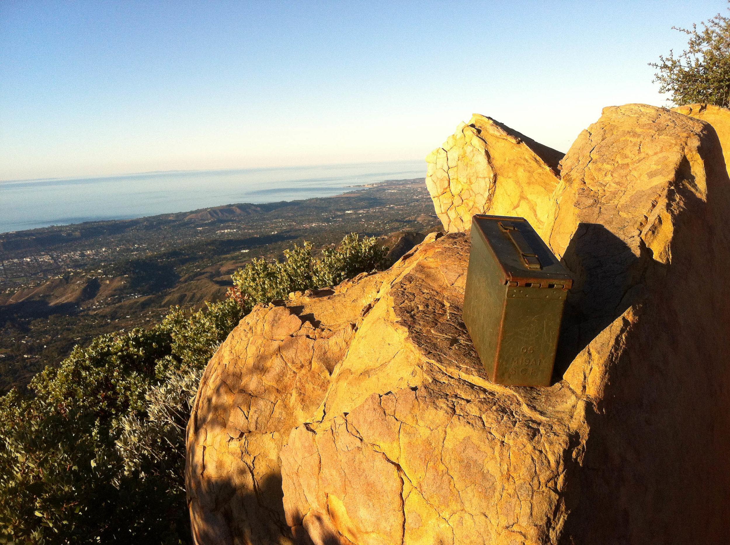 Summit Register at the top of Montecito Peak