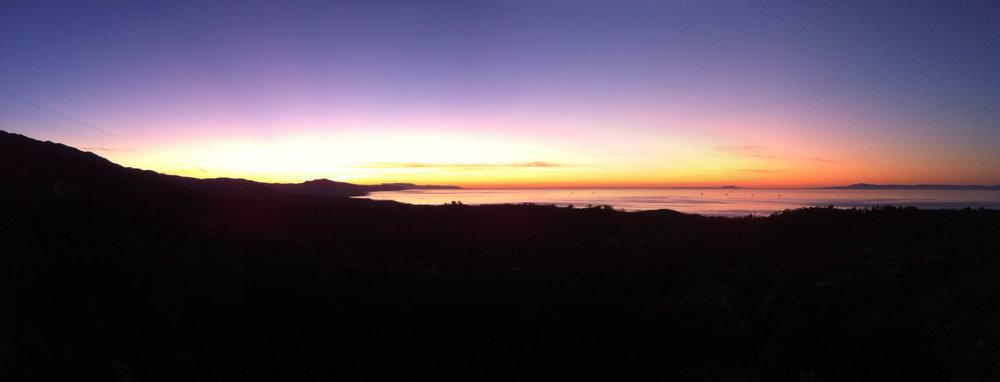 Sunrise from Camino Cielo
