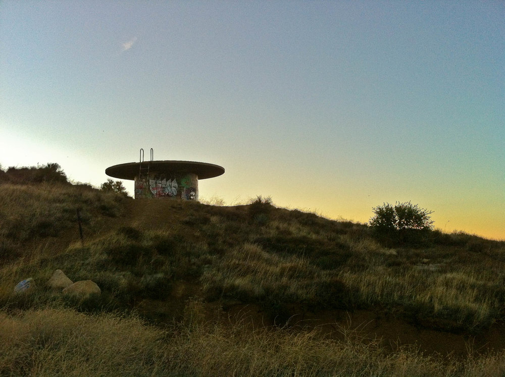 Water tank at Montecito Peak trail head