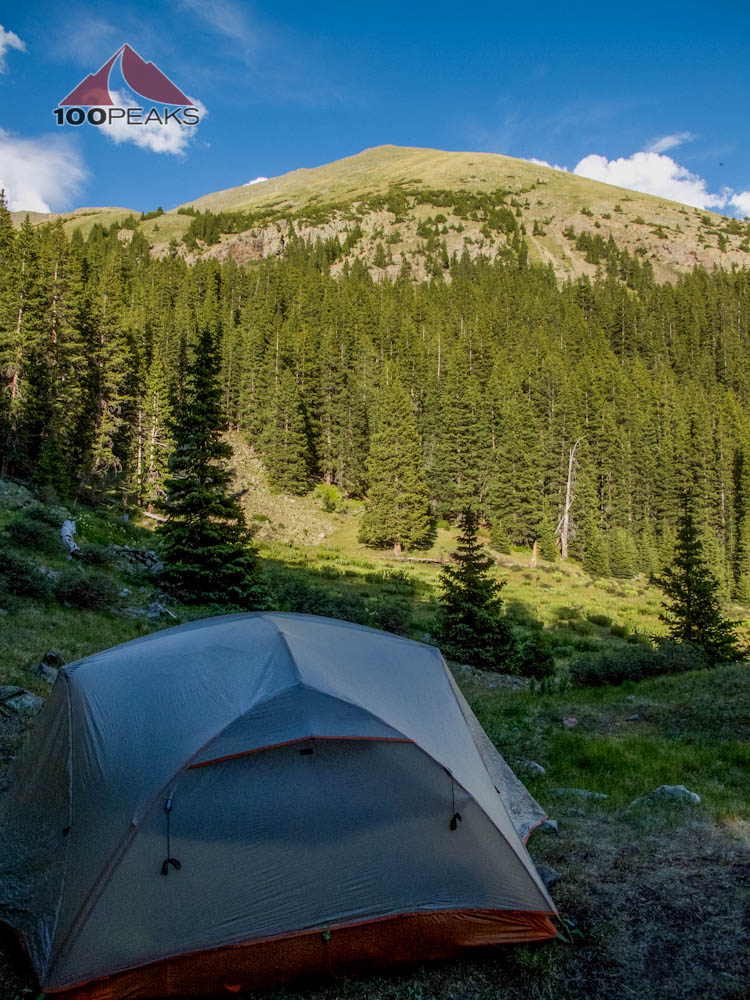 Our tent in the shadow of Wheeler Peak