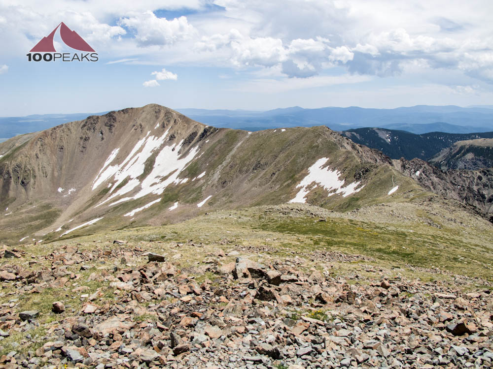 Simpson Peak and Old Mike Peak from Wheeler Peak