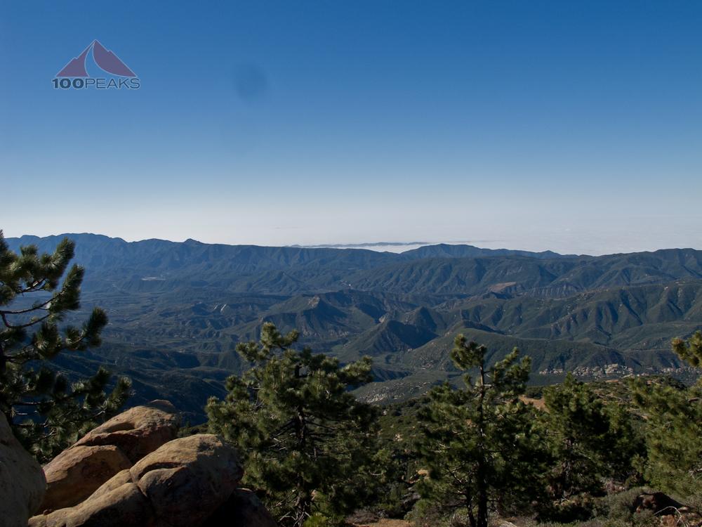 The Santa Ynez Mountains from Reyes Peak