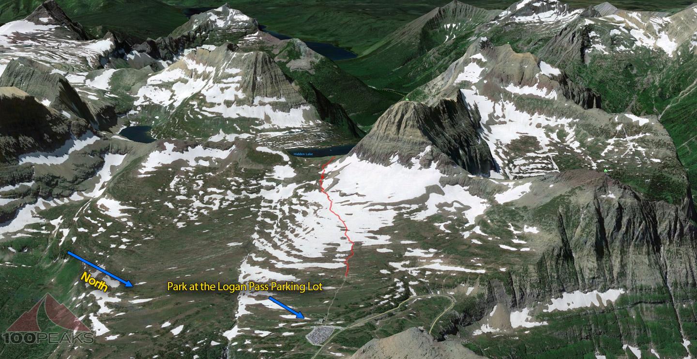 Hidden Lake Trail Map