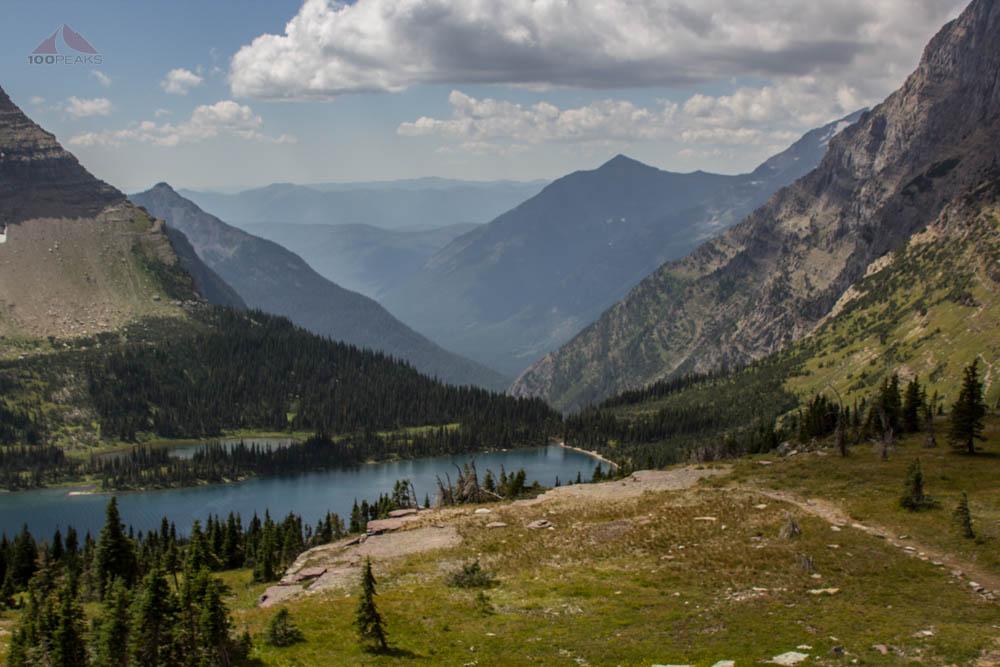 Looking down the Hidden Creek Drainage, Glacier National Park