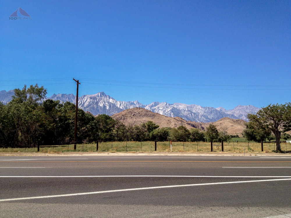 Mount Whitney from the Lone Pine Visitor Center