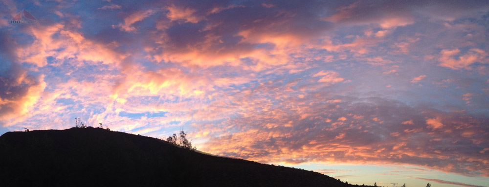 Sunset from Convict Lake Resort