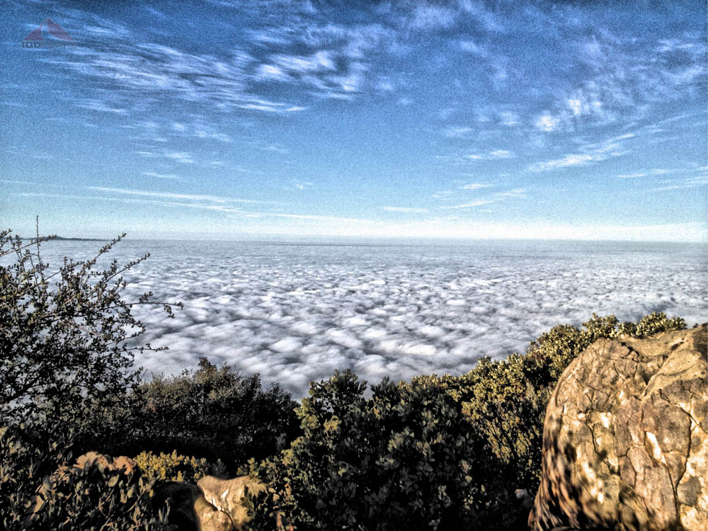 View from the top of Montecito Peak