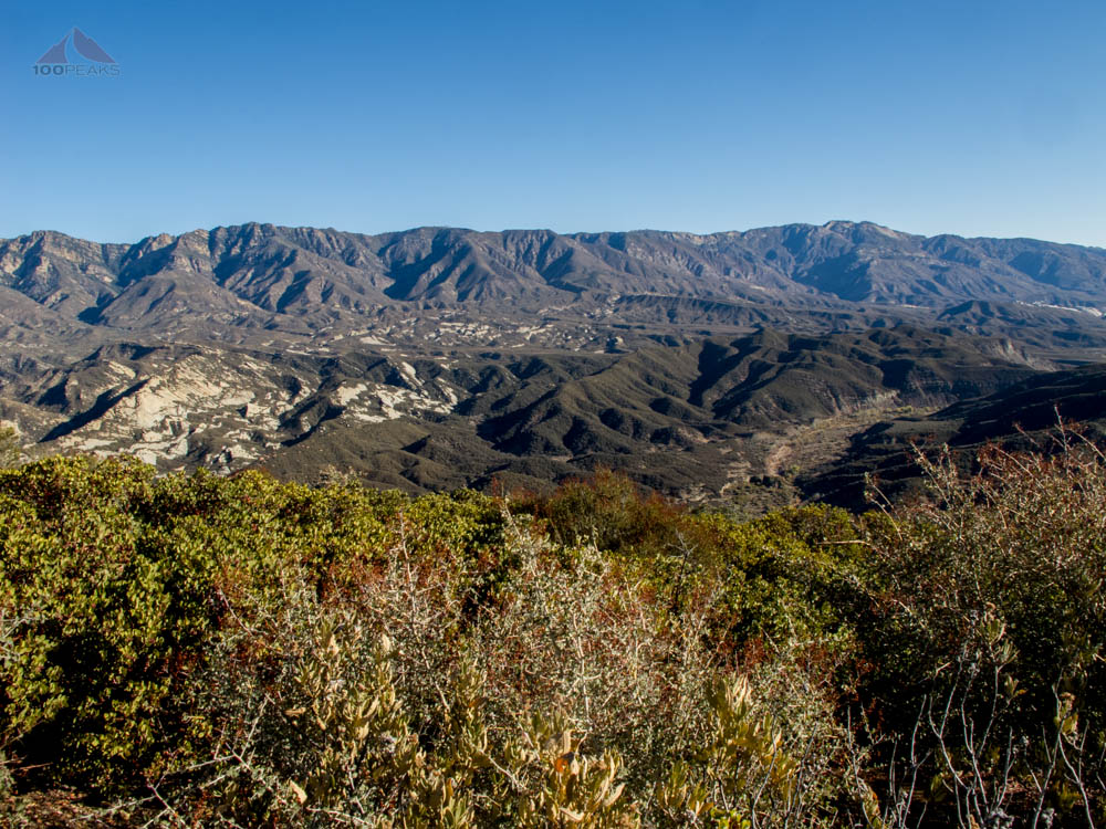 The view north towards Piedra Blanca from Dry Lakes Ridge
