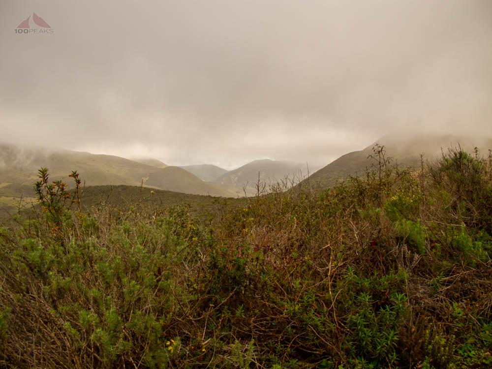 Foggy View along the Valencia Peak Trail