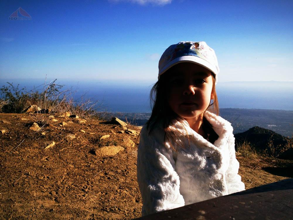 Soph at the top of La Cumbre Peak