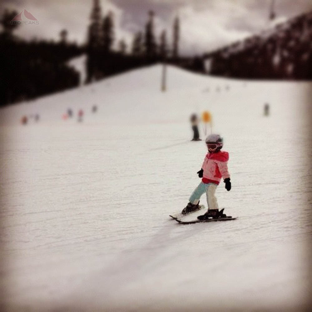 Soph's first time skiing at Mammoth Mountain