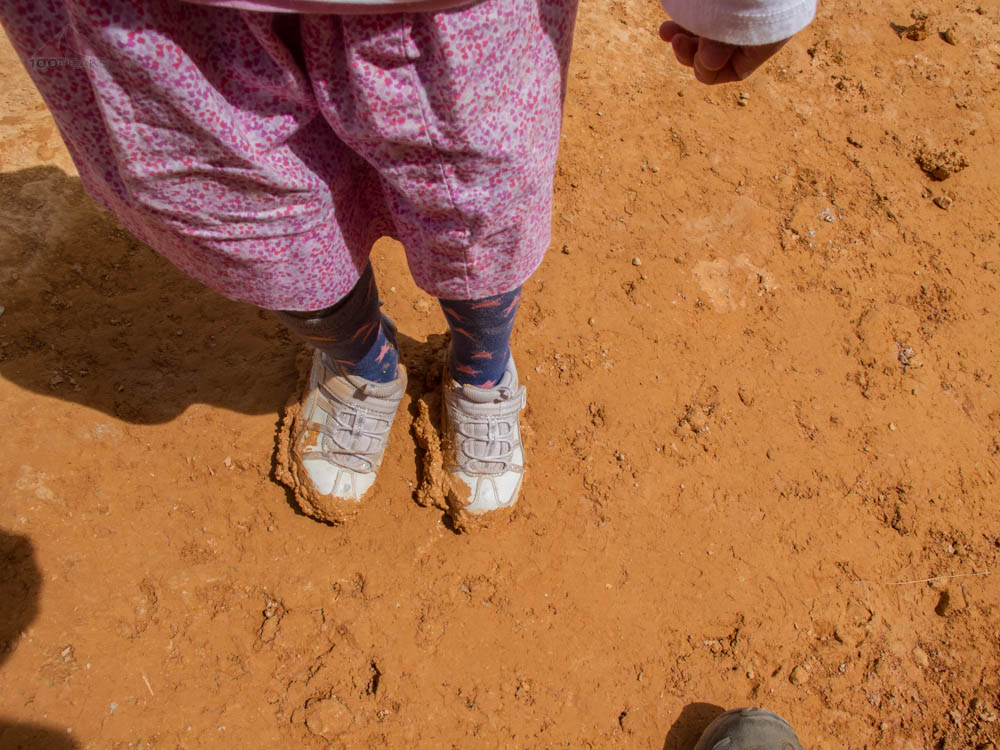 Shoes muddied by Bryce Canyon