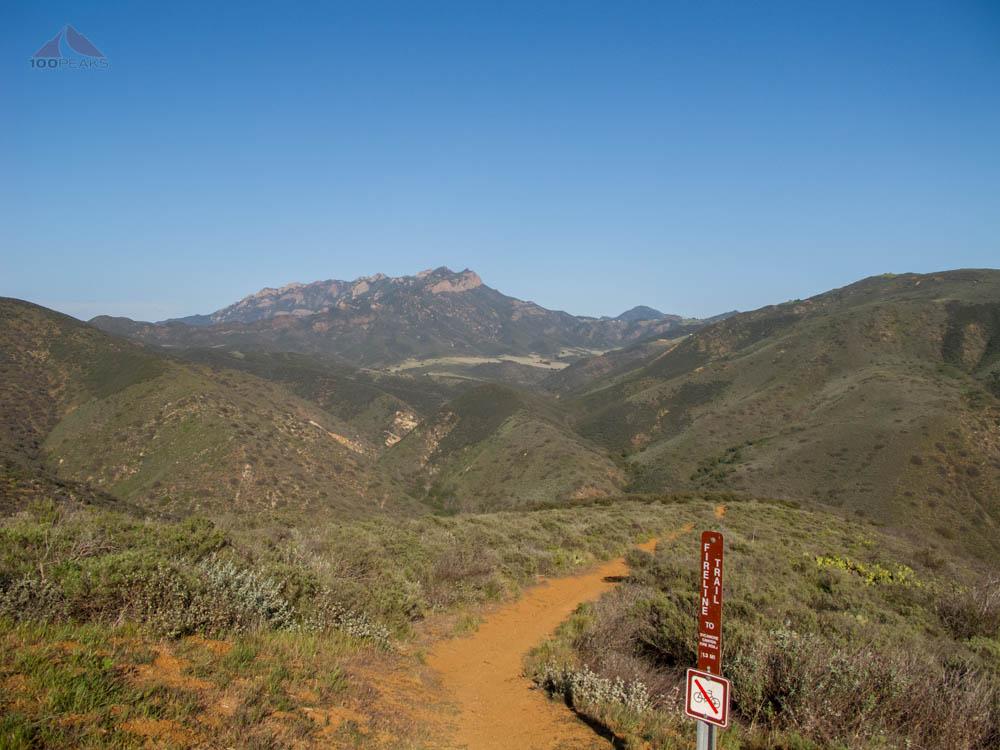 Boney Mountain from the Fireline Trail