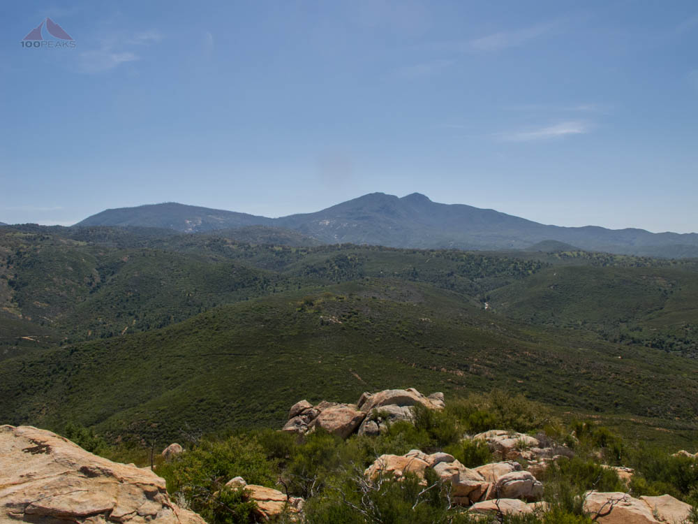 Cuyamaca Peak and Middle Peak from Sunshine Mountain
