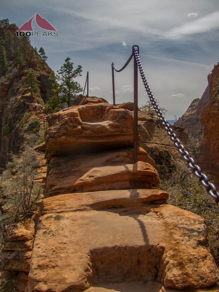 The Infamous Step on the way to Angel's Landing
