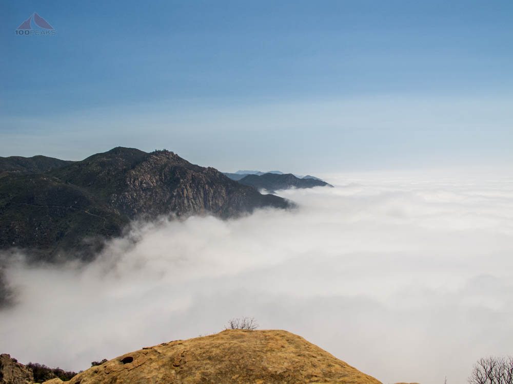 Above the clouds on Arlington Peak