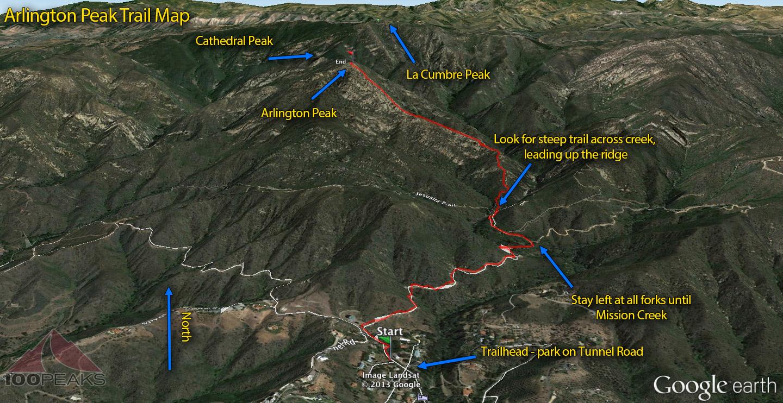 Arlington Peak Trail Map