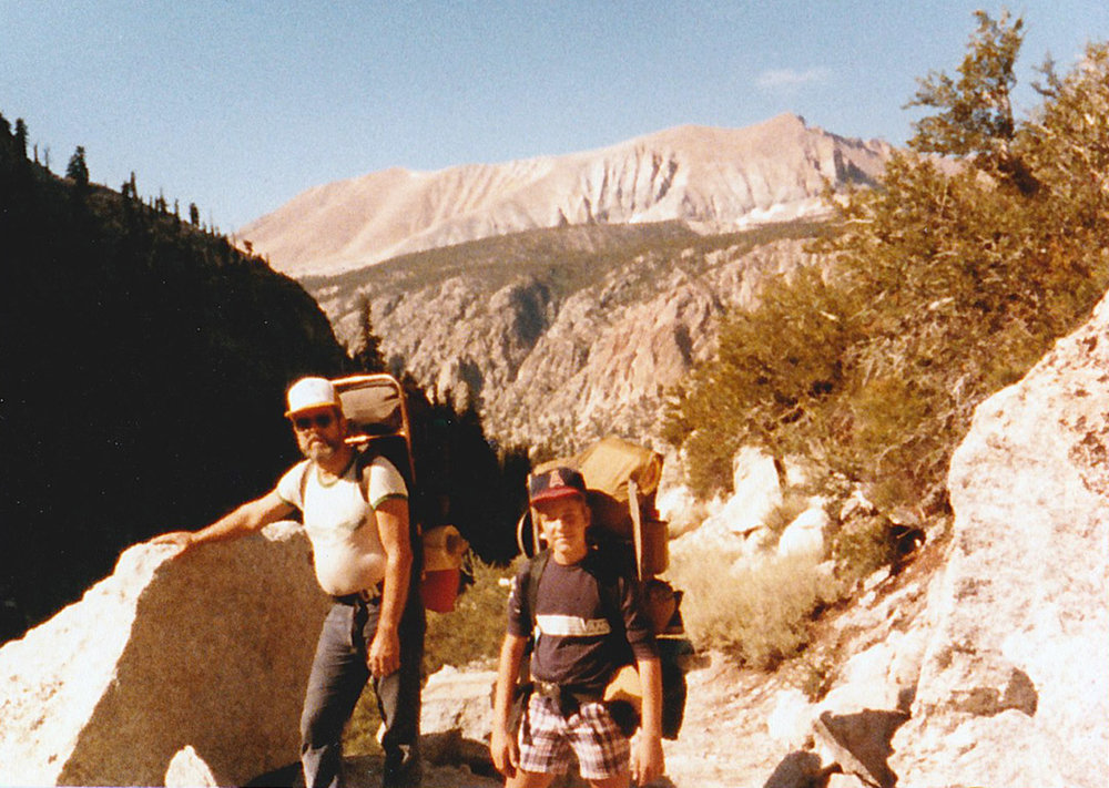 My dad and I, in the Sierra Nevada, when I was 12