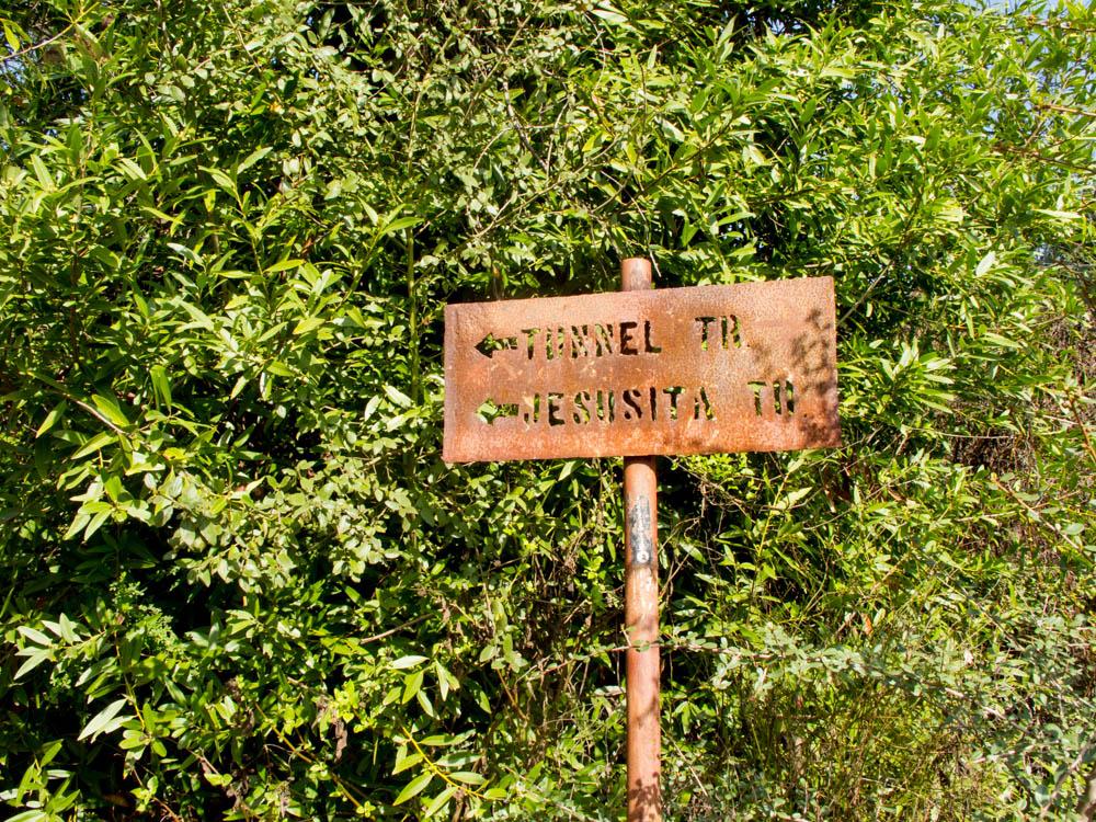 Tunnel Trail and Jesusita Trail Sign