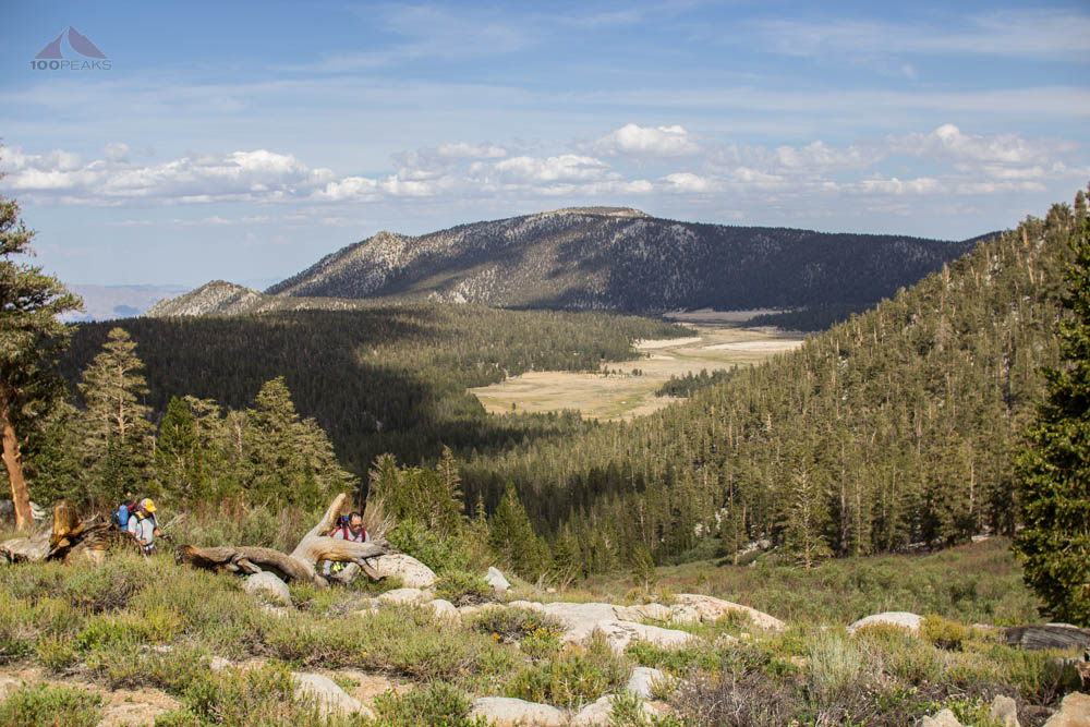 Looking down to Horseshoe Meadows from near Cottonwood Pass