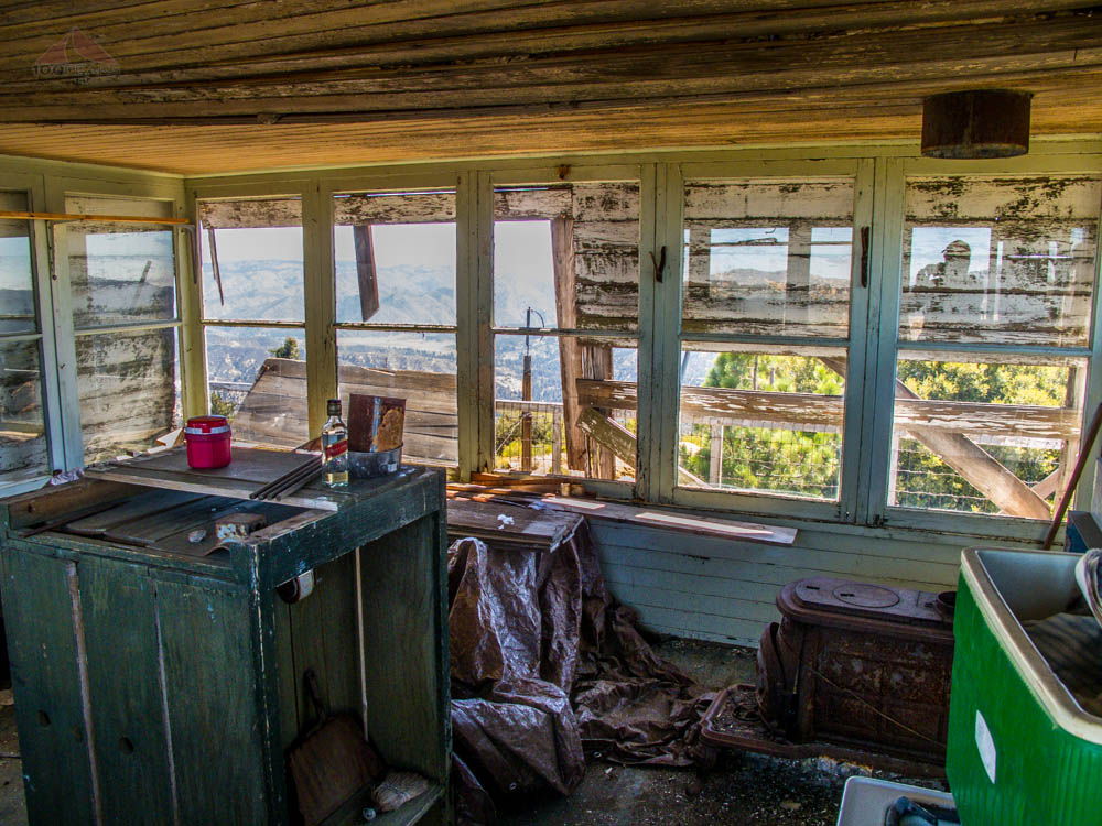 Thorn Point Lookout Tower interior