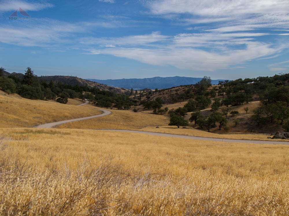 Tunnel Road, with Lake Cachuma and Santa Ynez Peak in the distance