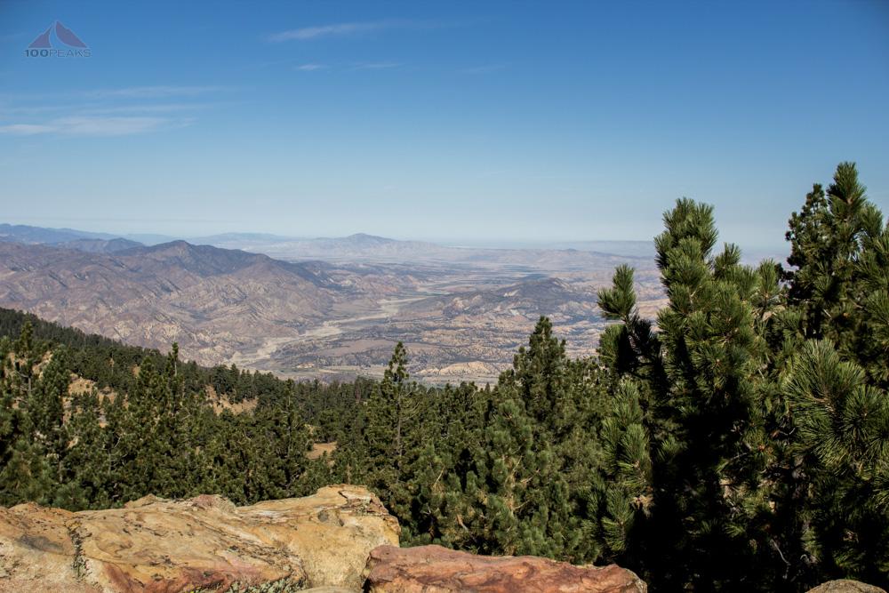 Dry Canyon from Reyes Peak