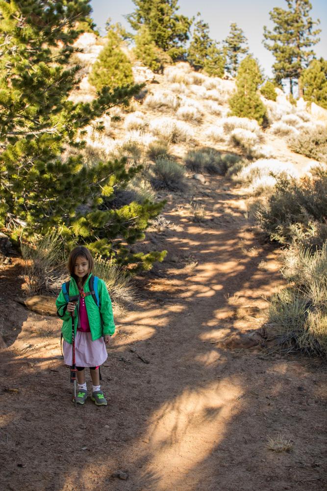 Soph on the way to Reyes Peak