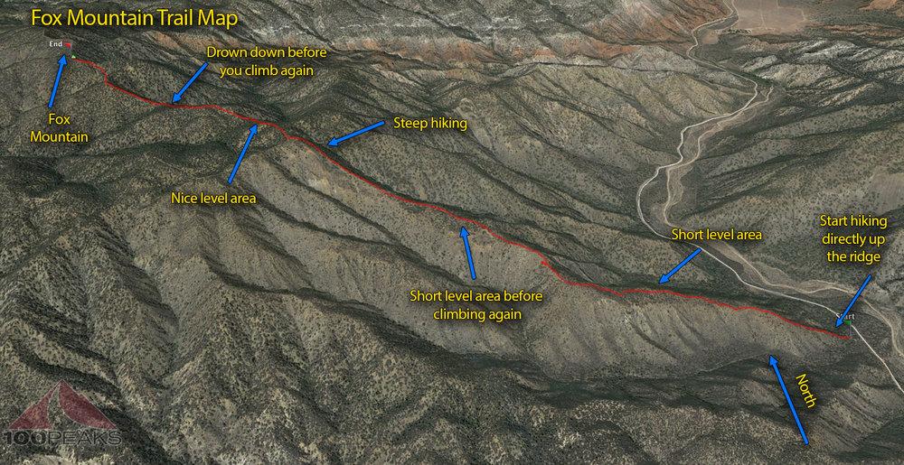 Fox Mountain Trail Map