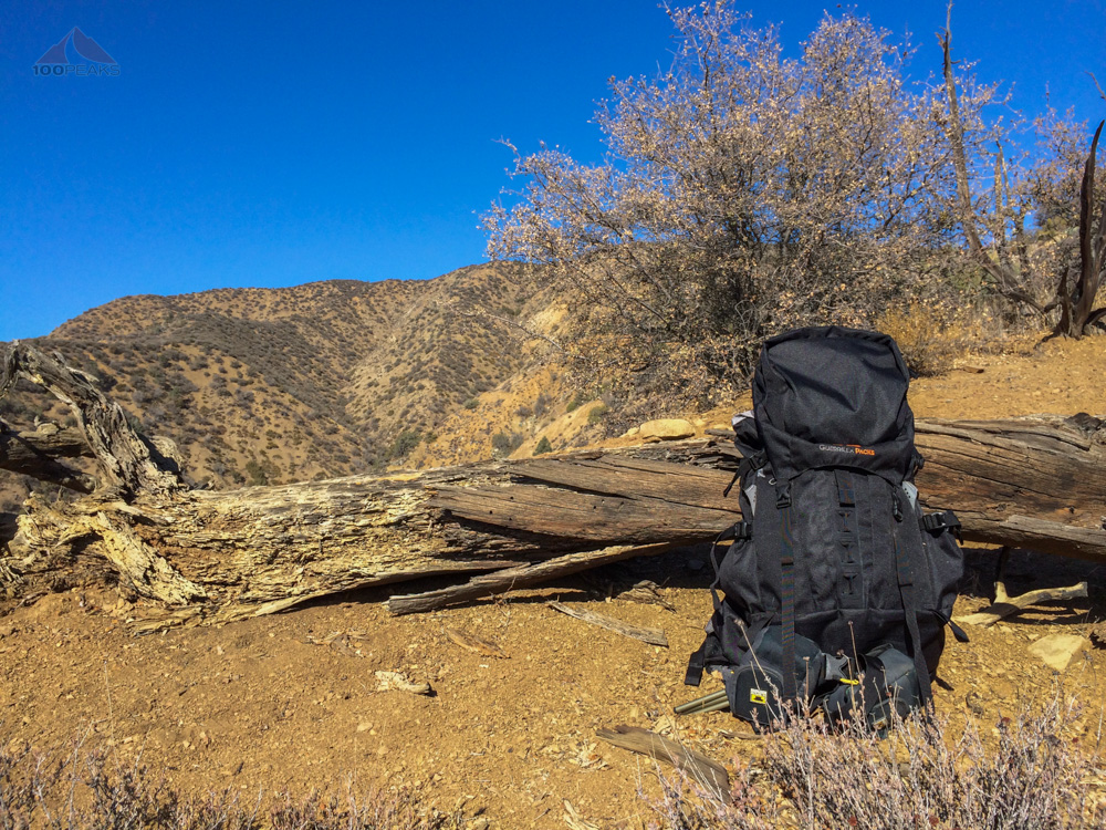 Guerrilla Packs Samurai 50L on the way to the top of Fox Mountain