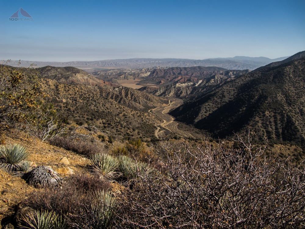 Looking back up Santa Barbara Canyon from the trail