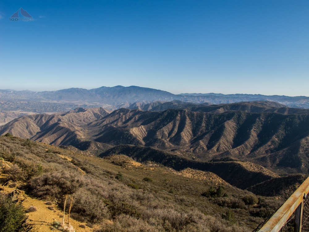 The view from Cuyama Peak Lookout Tower