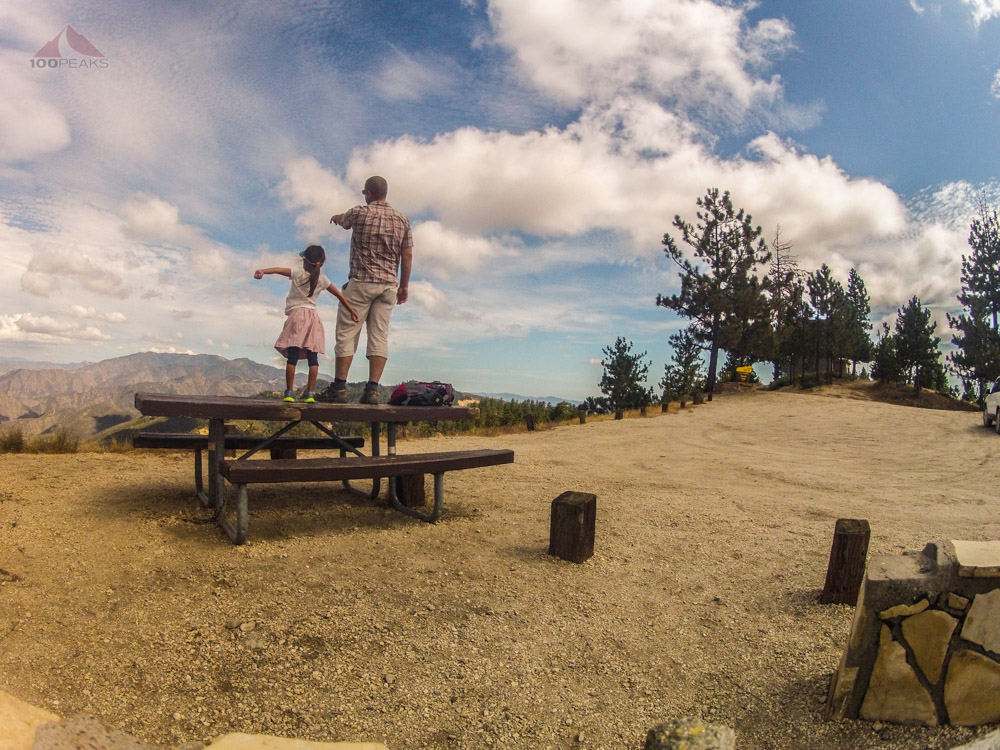 Pointing out San Rafael Mountain from Figueroa Mountain