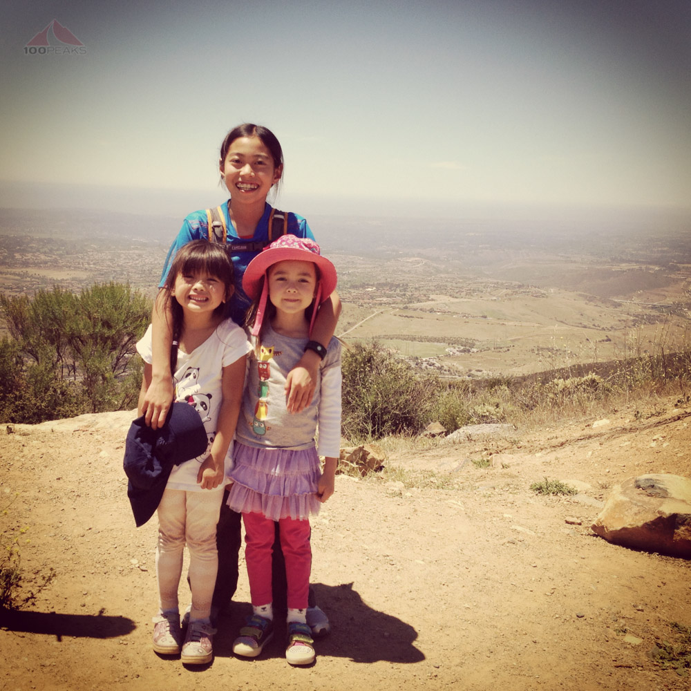 Soph and her cousins atop Black Mountain in San Diego