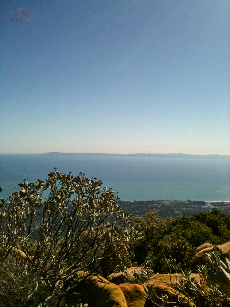 Soph's picture from the top of Montecito Peak