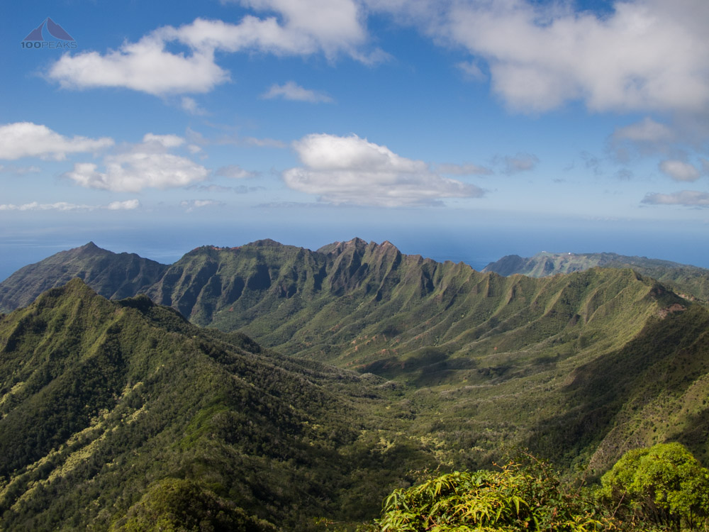 The view of Makaha Valley and Ka'ala Ridge