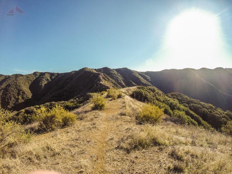 Higher on the ridge toward Camino Cielo