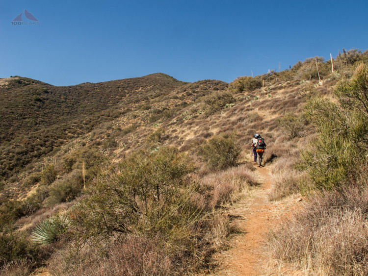 Hiking the upper part of the Aliso Canyon Trail