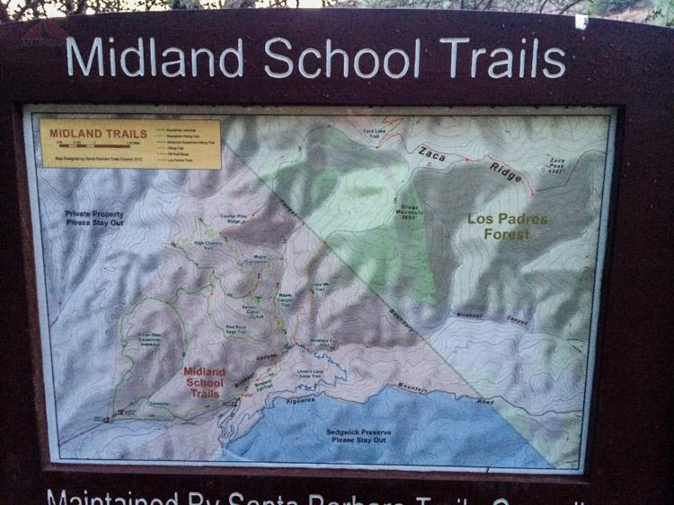 Midland School Trail map