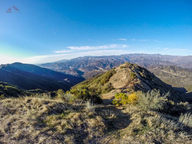The way down the ridge