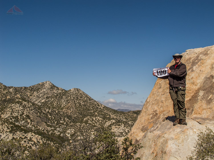 Brian's 100th San Diego Peak on the Sierra Club List