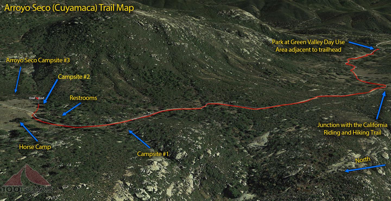 Arroyo Seco Trail Map