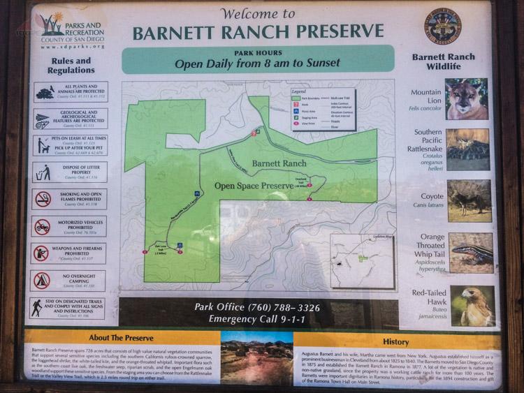 Barnett Ranch Preserve Trailhead Sign