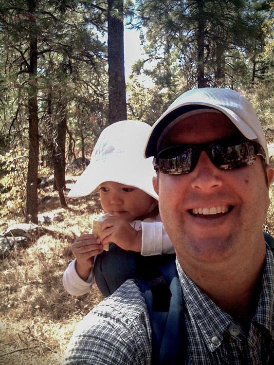 Selfie in 2009 on Wooded Hill - Bring snacks
