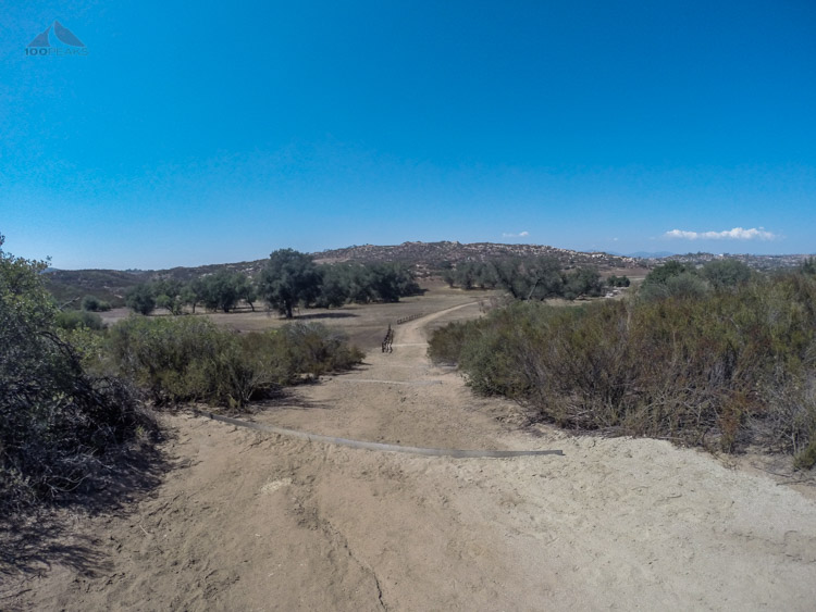 The view from the trail in Barnet Ranch Preserve