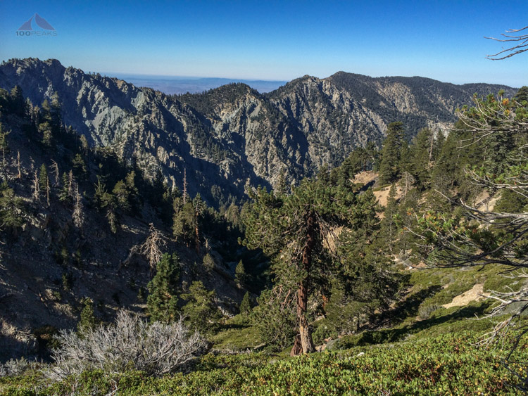 Galena Peak and others across Mill Creek Canyon
