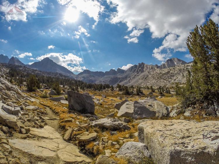 Hiking back up Dusy Basin